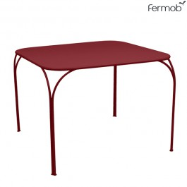 Table Kintbury 100x100cm Piment Fermob Jardinchic