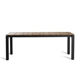 Table Repas Machar Pieds Alu Plateau Teck 280cm Oasiq Jardinchic