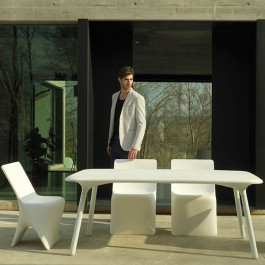 Table Sloo 180x90cm Blanc Vondom Jardinchic