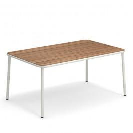 Table Rectangulaire Plateau Frêne Thermotraité Yard Blanc Cassé Emu Jardinchic
