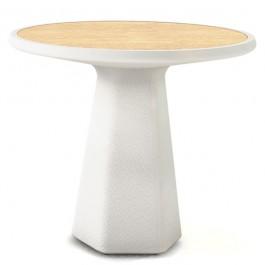 Table ronde metamorphosis Blanc finition bois natuerel Qui est Paul? JardinChic