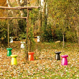 Tabouret Porcino Jaune Vert Orange Noir Rose  Serralunga JardinChic