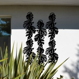 Composition Treille Monstera Liana Noire Palissadesign Jardinchic
