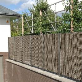 Claustra / Panneau Tressage Synthétique Tressage Double Fibre de bois JardinChic