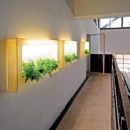 Jardinière Murale TV Lumineuse Gris - Modèle d'exposition - Teracrea Jardinchic
