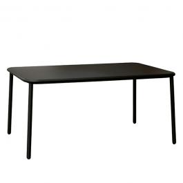 Table Rectangulaire Plateau Aluminium Yard Noir Emu JardinChic