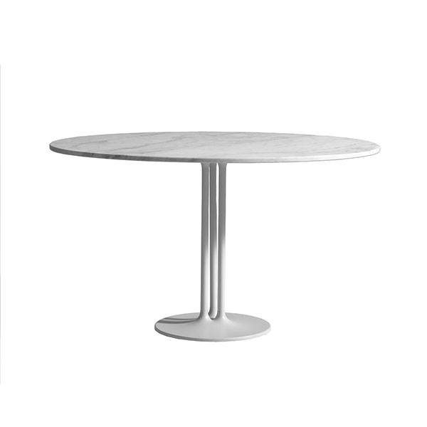 Table ovale pip e plateau marbre blanc jardinchic for Plateau table ovale