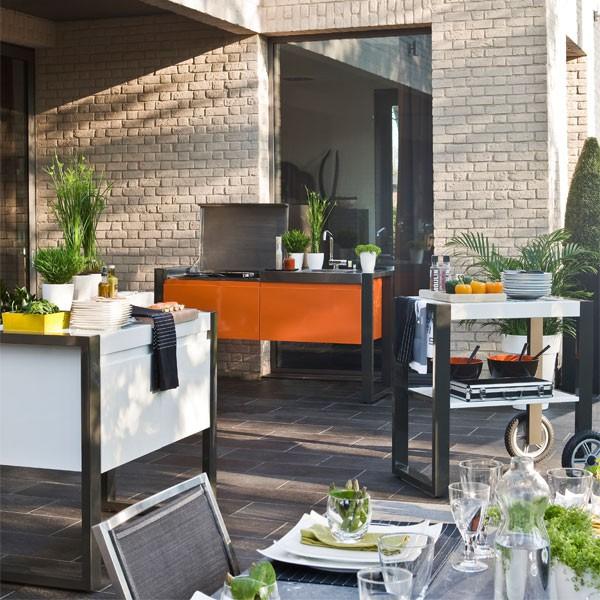 cuisine d 39 exterieur module nomade jardinchic. Black Bedroom Furniture Sets. Home Design Ideas