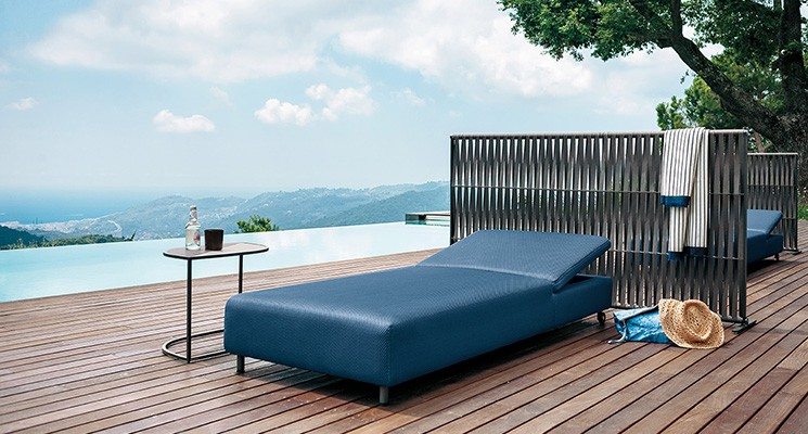 bain de soleil double jardinchic. Black Bedroom Furniture Sets. Home Design Ideas