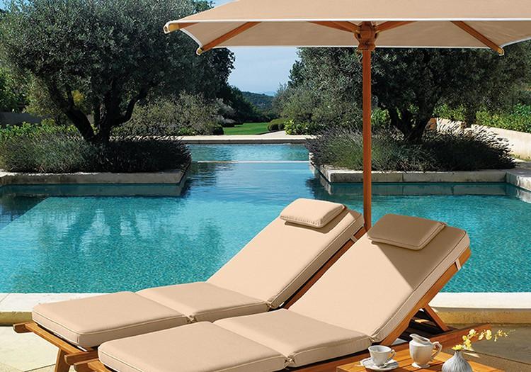 coussin pour bain de soleil biarritz teck jardinchic. Black Bedroom Furniture Sets. Home Design Ideas
