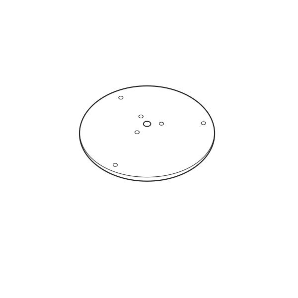 Base + Vis de Fixation Diamètre 41cm pour Pots Plust