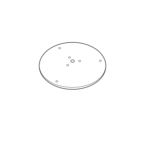 Base + Vis de Fixation Diamètre 32cm pour Pots Plust