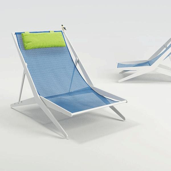 chaise longue boomy structure vernis blanc jardinchic. Black Bedroom Furniture Sets. Home Design Ideas
