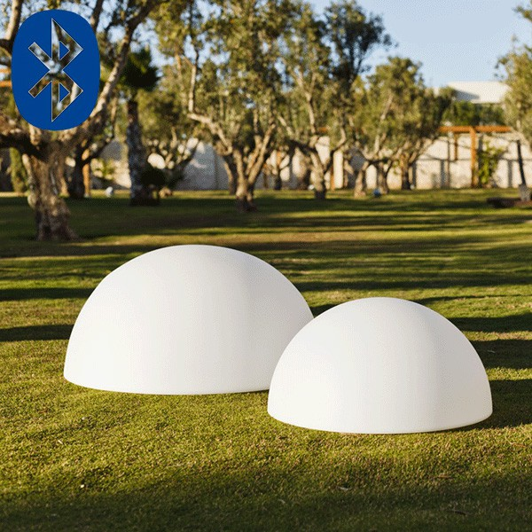 boule lumineuse demi bluetooth jardinchic. Black Bedroom Furniture Sets. Home Design Ideas