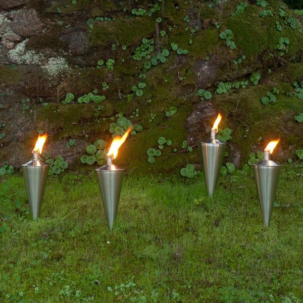 Torche huile cairo acier bross jardinchic - Torche a huile jardin ...