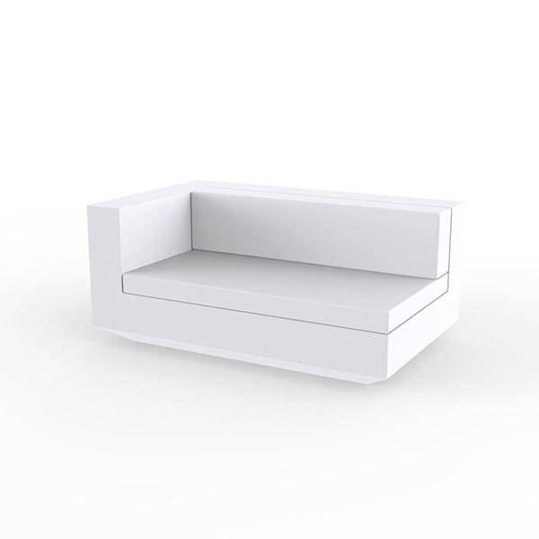 Canapé Modulable Vela - Module Droit XL Blanc Vondom Jardinchic