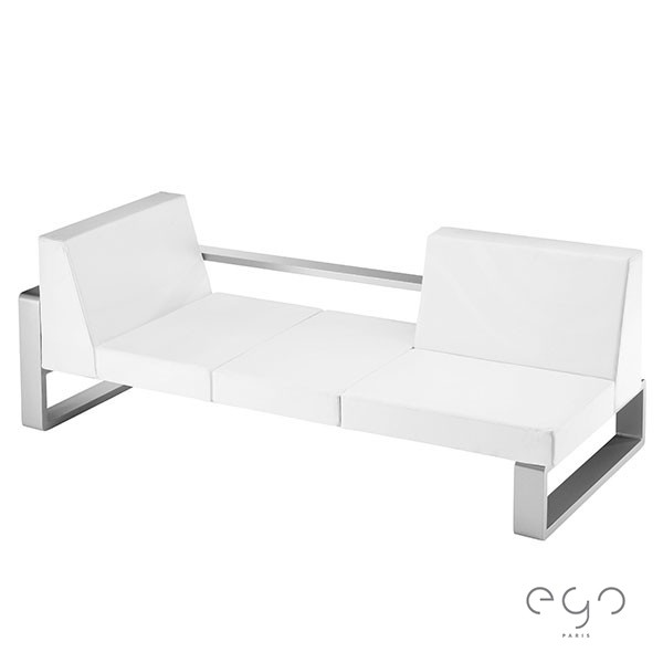Canapé Kama Coussinage Vinyle Blanc EGO Paris JardinChic