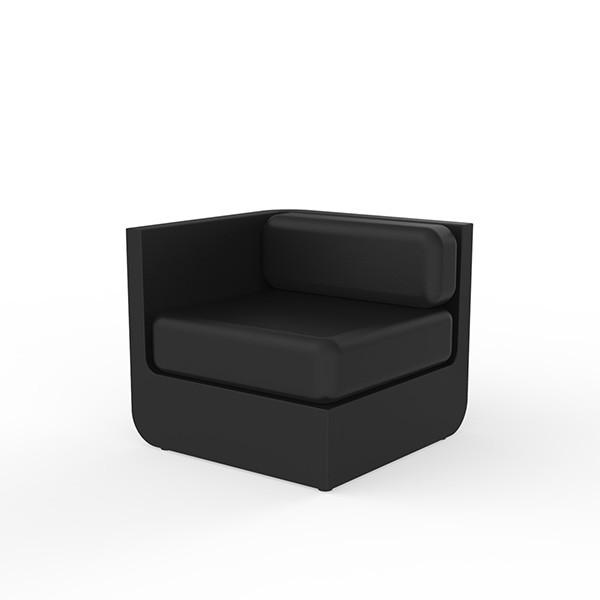 Canapé Modulable Ulm - Module Droit Noir Vondom Jardinchic