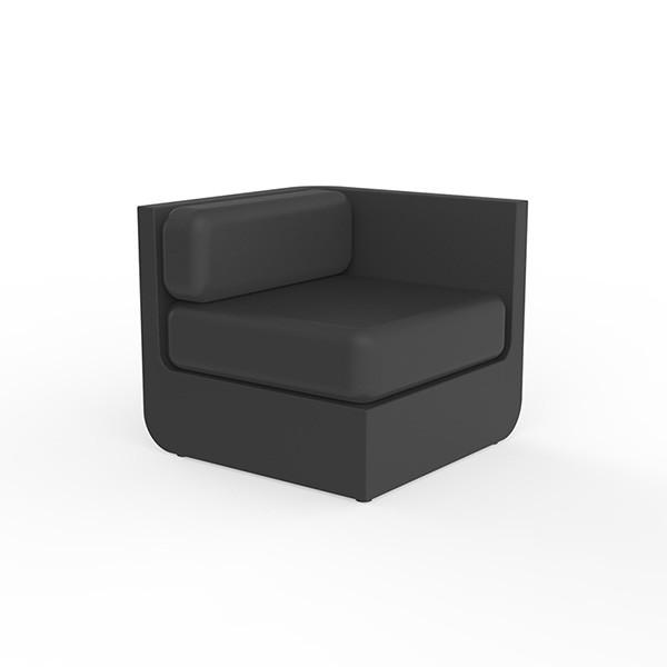 Canapé Modulable Ulm - Module Gauche Noir Vondom Jardinchic