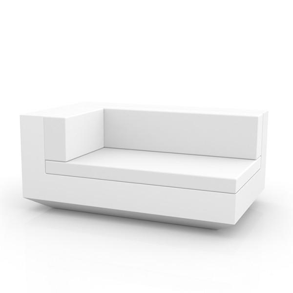 Canapé Modulable Vela - Module Droit Chaise Longue Blanc Vondom Jardinchic