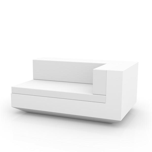 Canapé Modulable Vela - Module Gauche Chaise Longue Blanc Vondom Jardinchic