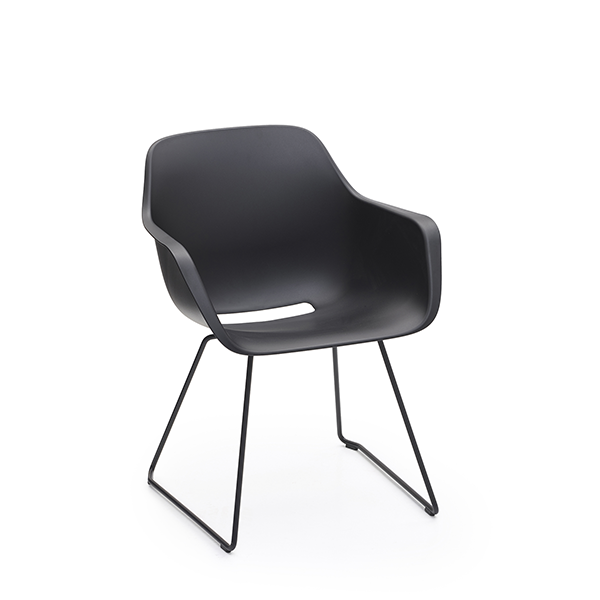 Captain's Chair Noir Piétement Luge Noir Extremis