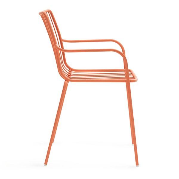 lot de 2 chaises avec accoudoirs dossier haut nolita jardinchic. Black Bedroom Furniture Sets. Home Design Ideas