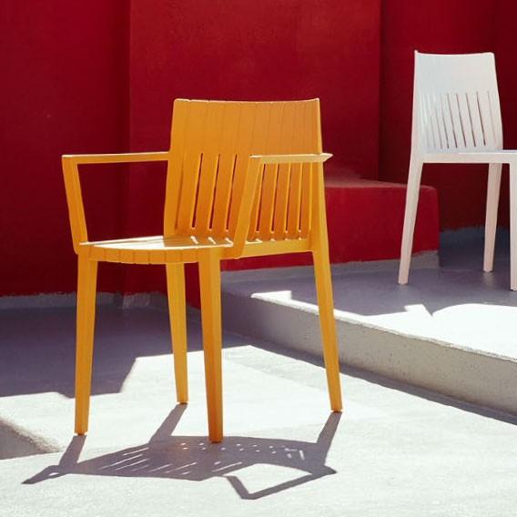 Chaise avec Accoudoirs Spritz Mostaza Vondom Jardinchic