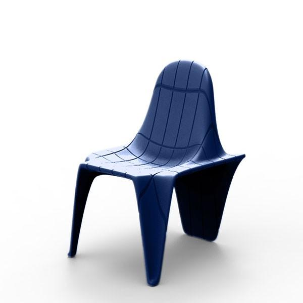 Chaise F3 Bleu Marine Vondom Jardinchic