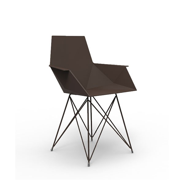 chaise de repas pi tement inox avec accoudoirs faz jardinchic. Black Bedroom Furniture Sets. Home Design Ideas