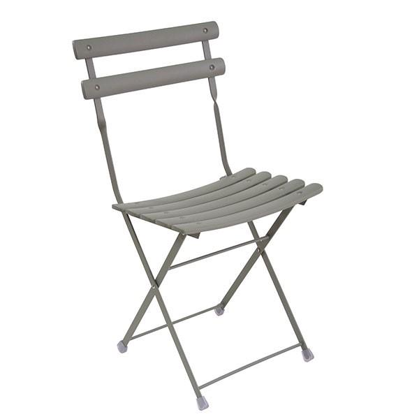 lot de 2 chaises pliables arc en ciel gris vert emu jardinchic - Chaises Pliables