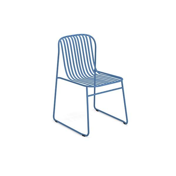 Lot de 4 Chaises Riviera Bleu Azur Emu Jardinchic