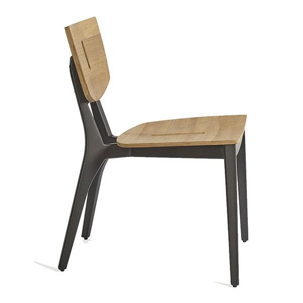 Chaise de Repas Diuna Aluminium / Teak Oasiq Jardinchic