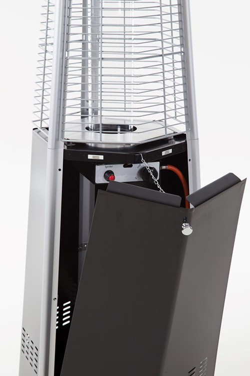 chauffage d 39 ext rieur hexagonal acier thermolaqu noir jardinchic. Black Bedroom Furniture Sets. Home Design Ideas