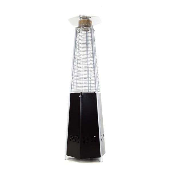 Chauffage d 39 ext rieur hexagonal acier thermolaqu noir for Chauffage exterieur propane