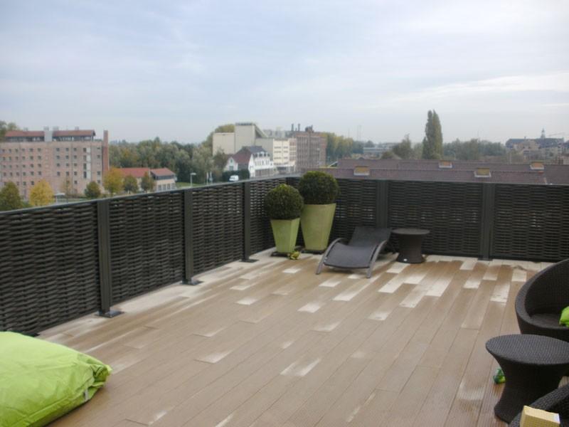 claustra panneau tressage synth tique jardinchic. Black Bedroom Furniture Sets. Home Design Ideas