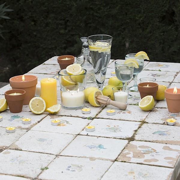 bougie terre cuite la citronnelle jardinchic. Black Bedroom Furniture Sets. Home Design Ideas