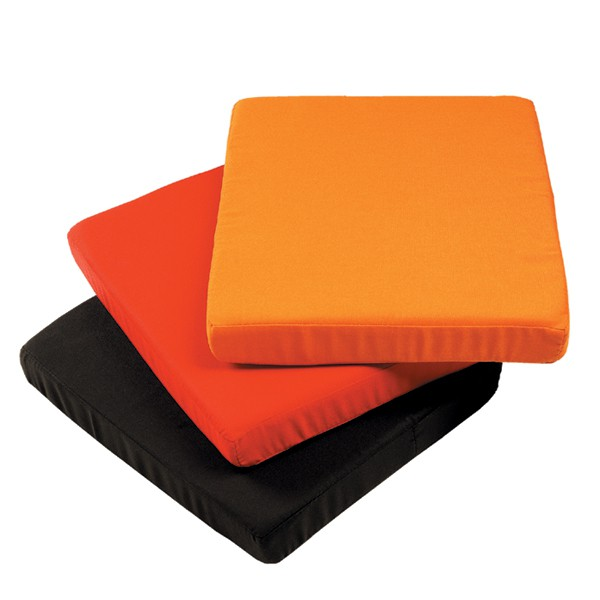 Coussin pour tabouret/socle Cube Orange Rouge Noir  Sywawa JardinChic