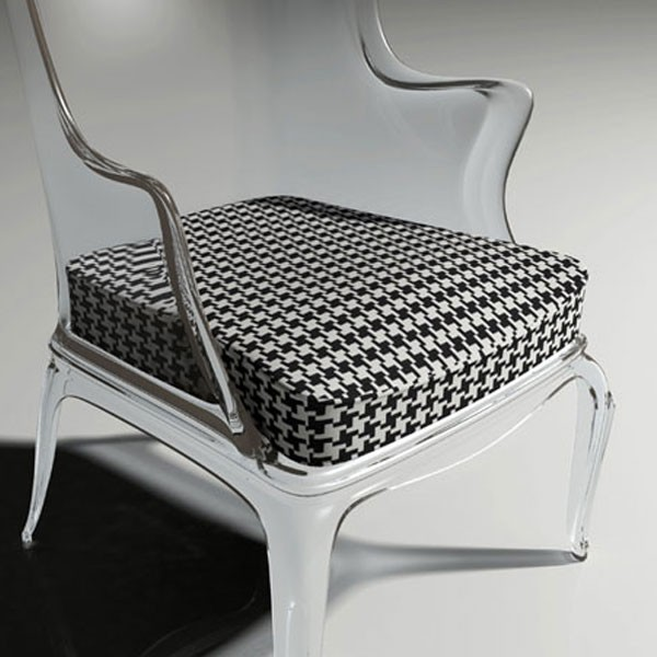 Coussin Pied de Poule pour Fauteuil Pasha Pedrali Jardinchic (fauteuil vendu séparément)