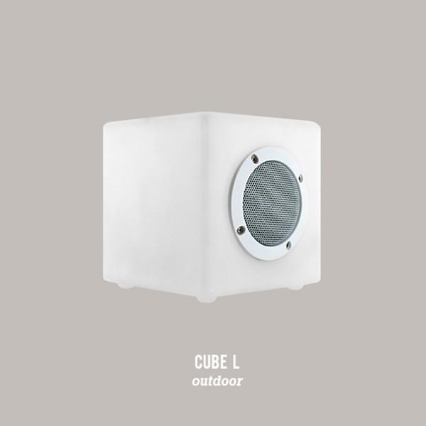 enceinte lumineuse cube l jardinchic. Black Bedroom Furniture Sets. Home Design Ideas