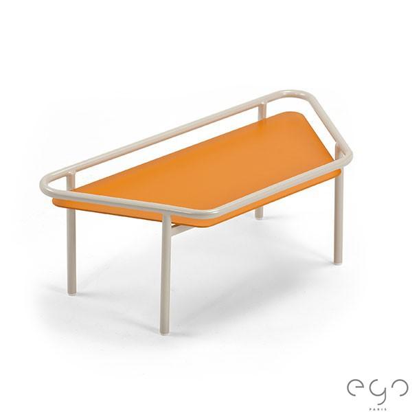 Demi Table Basse Hive Structure Pierre de Lune (Plateau Abricot Givré arrêté) EGO Paris JardinChic