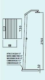 douche d 39 ext rieur solaire solaris inox avec base jardinchic. Black Bedroom Furniture Sets. Home Design Ideas