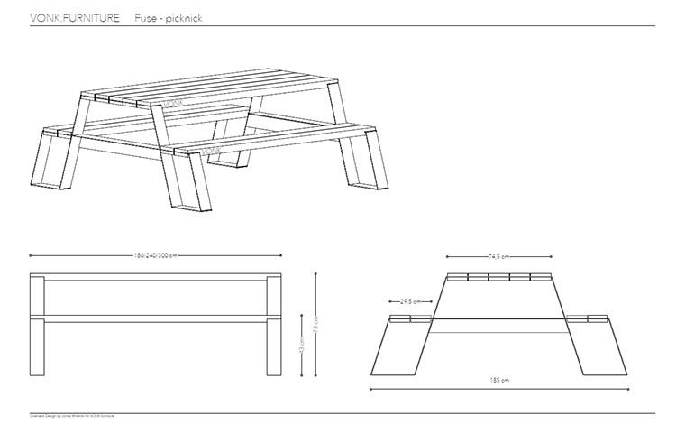 Table Fuse Picknick - JardinChic