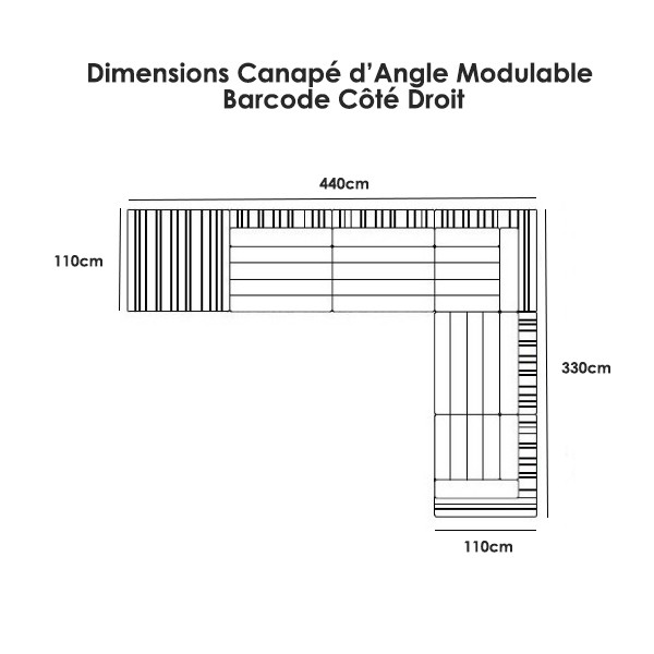 canape d angle dimension canap d 39 angle modulable barcode jardinchic