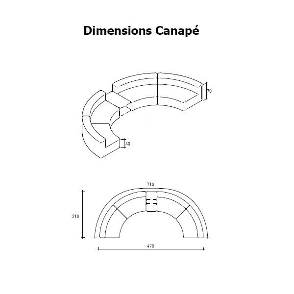 Canap arc de cercle avec table basse belt jardinchic - Canape arc de cercle ...
