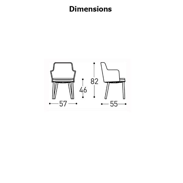 dimensions fauteuil emma varaschin jardinchic - Dimension Fauteuil