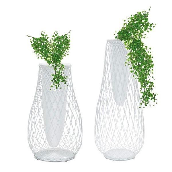 Vase Heaven haut et bas Emu blanc JardinChic