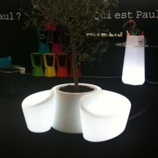 Ensemble Lumineux Banc + Pot Sardana Qui est Paul? Jardinchic