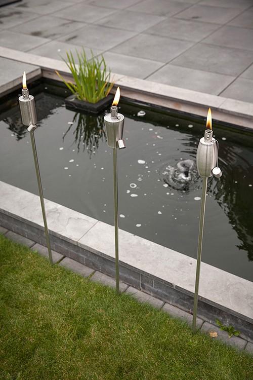 torche de jardin planter ronde jardinchic. Black Bedroom Furniture Sets. Home Design Ideas