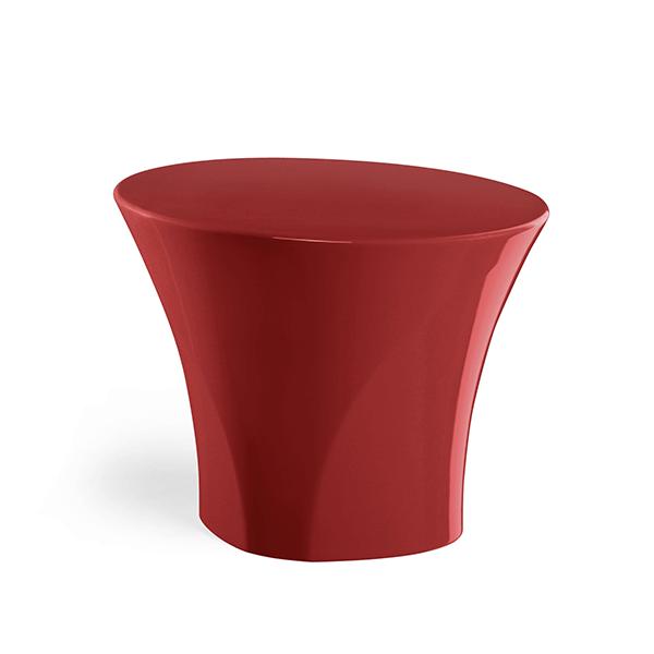 Table Basse Enta Laquée Rouge Oriental Plust Jardinchic